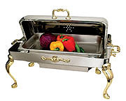 Queen Anne Oblong Full-Size, Heavy Duty Roll-top Chafer