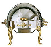 Eastern Queen-Anne Round Roll-Top Chafer With Food Guard