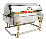 Lion-Head Oblong Heavy-Duty Full-Size Roll-top Chafer