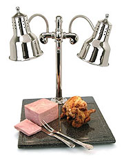 Carving Station with Polished Chrome Heat Lamp