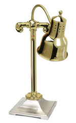 Polished Brass Self-Standing Lamp Warmer