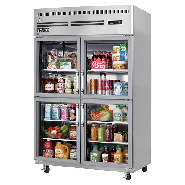 """Everest Reach-In Refrigerator Two-section 49-5/8""""W - ESGRH4"""
