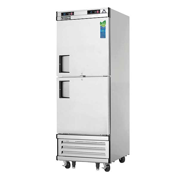 """Everest Reach-In Dual Temperature Refrigerator/Freezer Combo One-section 29-1/4""""W - EBWRFH2"""