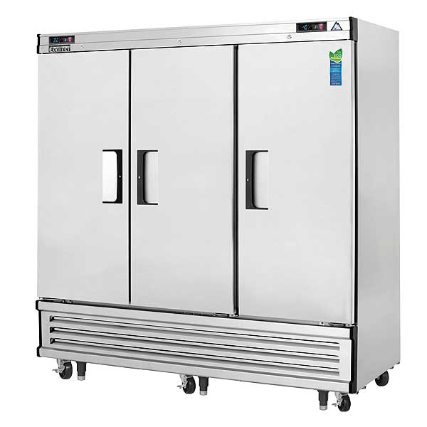 """Everest Reach-In Dual Temperature Refrigerator/Freezer Combo Three-section 74-3/4""""W - EBRF3"""