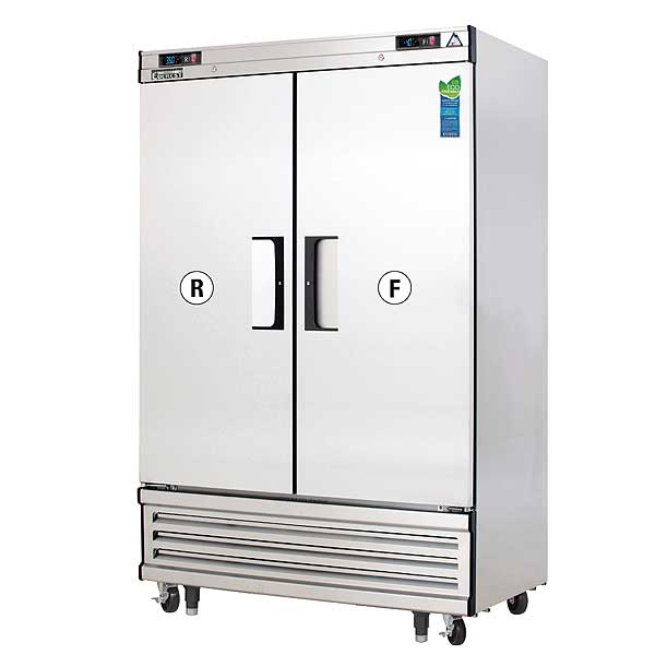 """Everest Reach-In Dual Temperature Refrigerator/Freezer Combo 49-5/8""""W Two-section - EBSRF2"""