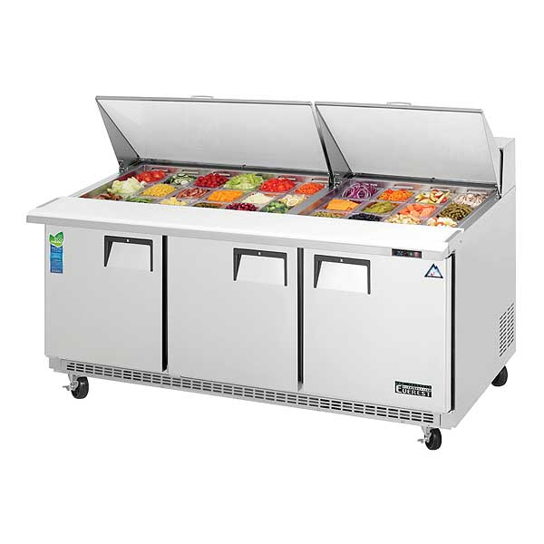 Everest Sandwich Prep Table Mega-Top Three-section - EPBR3