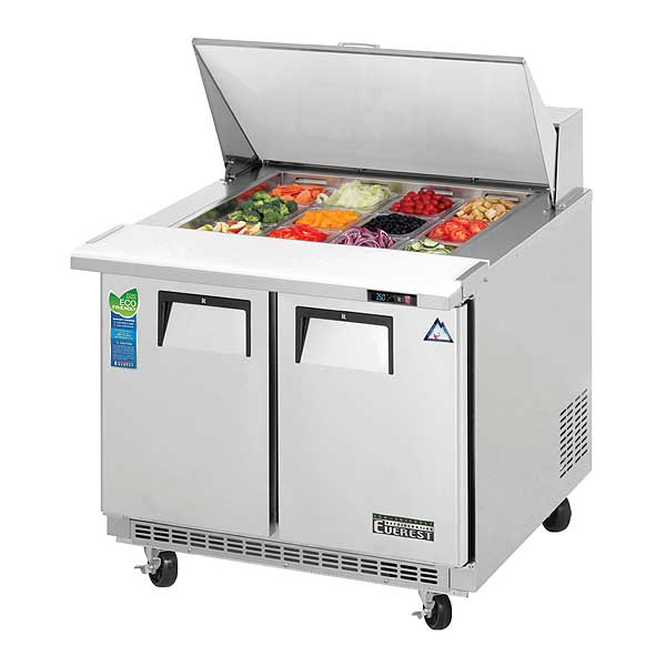 Everest Sandwich Prep Table Mega-Top Two-section - EPBSR2