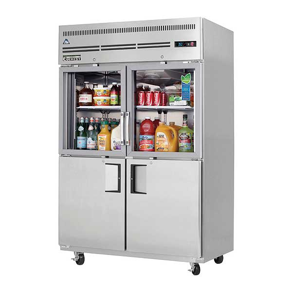 """Everest Reach-In Refrigerator Two-section 49-5/8""""W - EGSH4"""