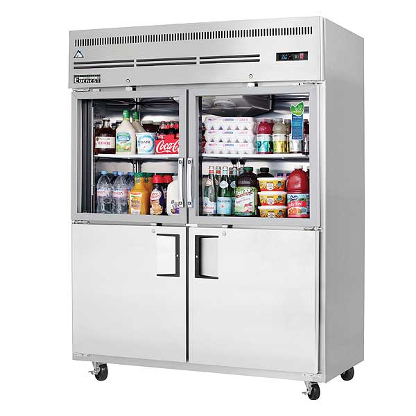 """Everest Reach-In Refrigerator Two-section 59""""W - EGSWH4"""