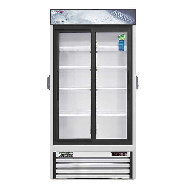 """Everest Reach-In Glass Door Chromatography Refrigerator Two-section 39-3/8""""W - EMGR33C"""