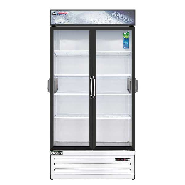 """Everest Reach-In Glass Door Chromatography Refrigerator Two-section 39-3/8""""W - EMSGR33C"""