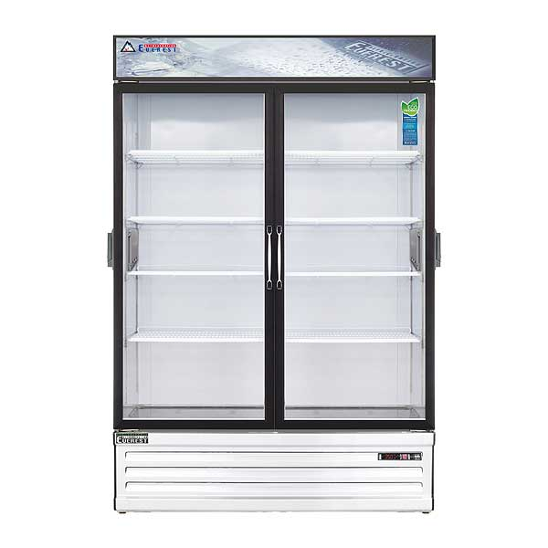 """Everest Reach-In Glass Door Chromatography Refrigerator Two-section 53-1/8""""W - EMSGR48C"""