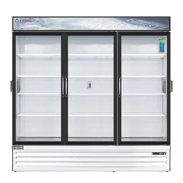 """Everest Reach-In Glass Door Chromatography Refrigerator Three-section 72-7/8""""W - EMSGR69C"""