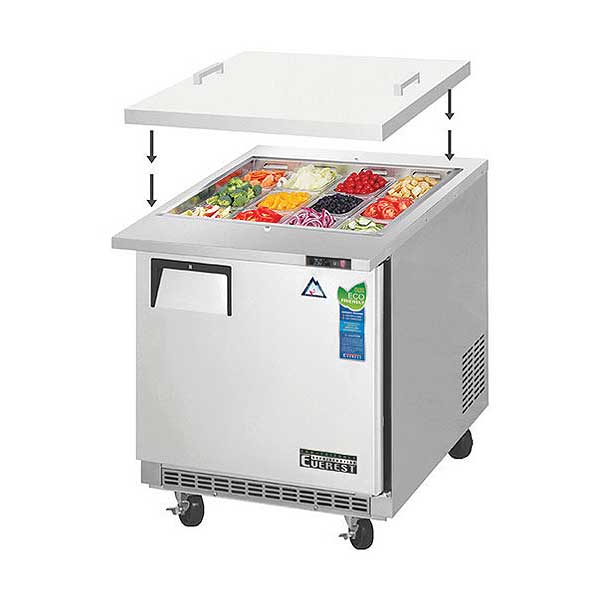 Everest Open Top Prep Table Mega-Top One-section - EOTP1