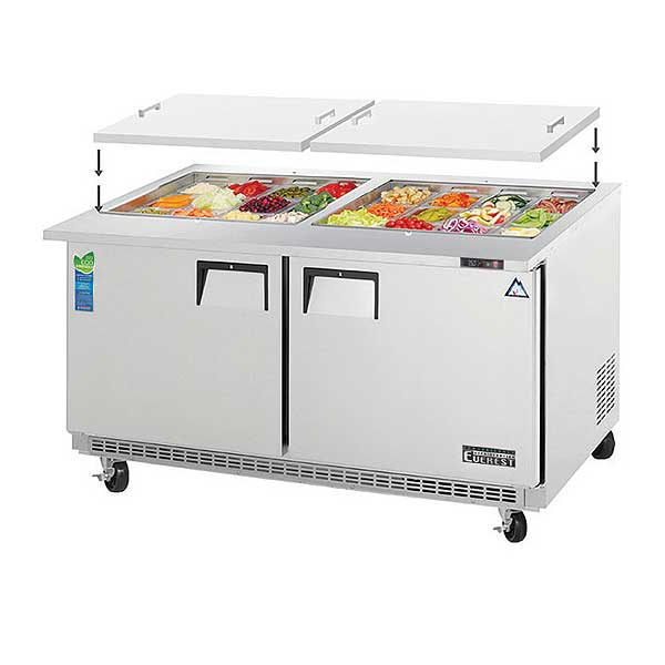 Everest Open Top Prep Table Mega-Top Two-section - EOTPW2