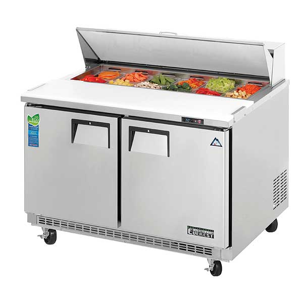 """Everest Sandwich Prep Table Two-section 47-1/2""""W - EPBNR2"""