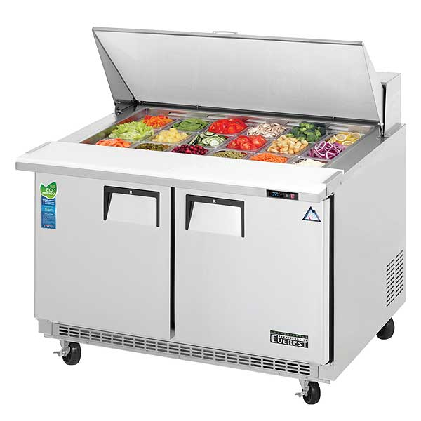 Everest Sandwich Prep Table Mega-Top Two-section - EPBR2
