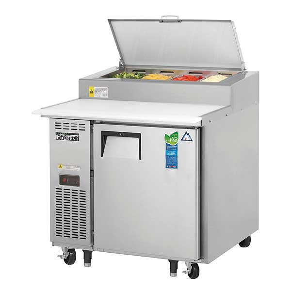 """Everest Pizza Prep Table One-section 35-5/8""""W - EPPR1"""