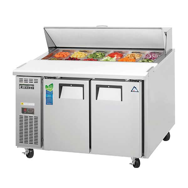"Everest Sandwich Prep Table Two-section 47-1/2""W - EPR2-24"