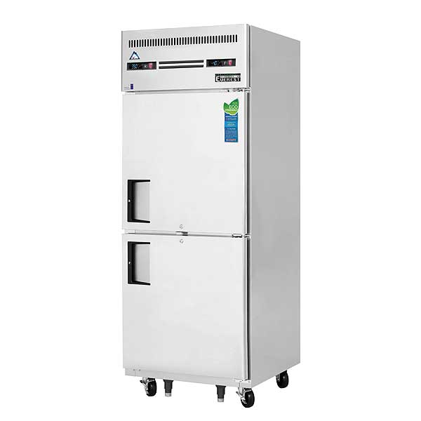 """Everest Reach-In Dual Temperature Refrigerator/Freezer Combo One-section 29-1/4""""W - ESRFH2"""
