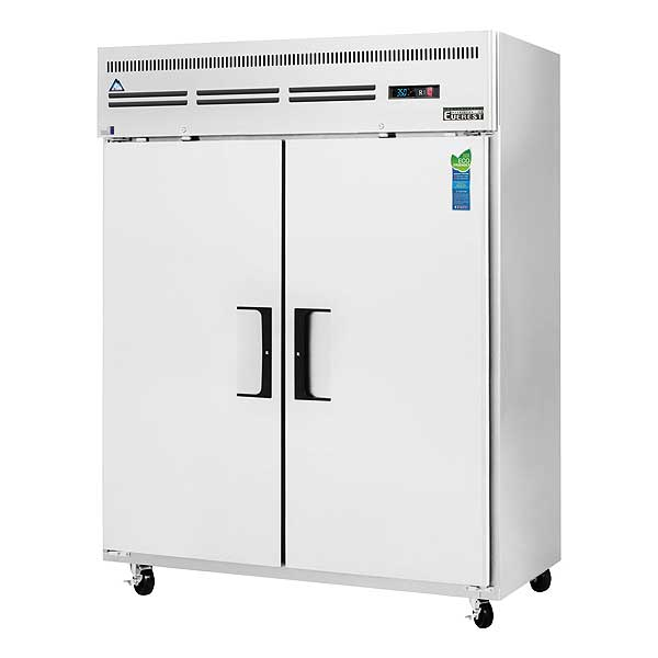 """Everest Reach-In Refrigerator Two-section 59""""W - ESWR2"""