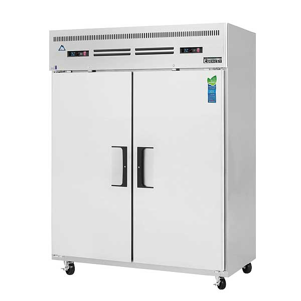 """Everest Reach-In Dual Temperature Refrigerator/Freezer Combo Two-section 59""""W - ESWRF2"""