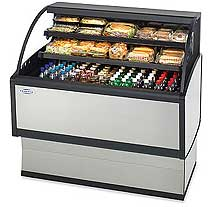 Federal Low Profile Refrigerated Merchandiser LPRSS6, 72 Inch