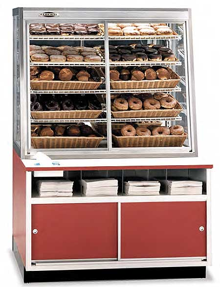 Federal Wdc Bagel Bread And Donut Display Case