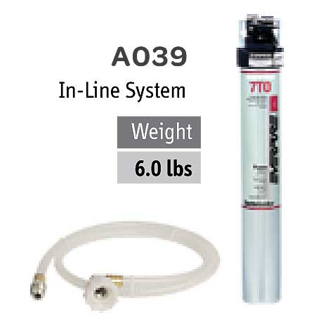 Fetco Everpure In-Line Water Filtration System Includes: Filter Head Connector Hose - A039