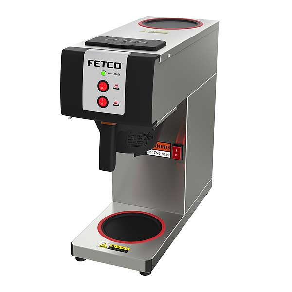 Fetco Pourover Coffee Brewer Single (2) Self-adjusting Warmers With Temperature Limiting Technology - CBS-2121-PW