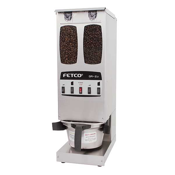 Fetco Coffee Grinder Portion Controlled (2) 5 Lb. Capacity - GR-2.2