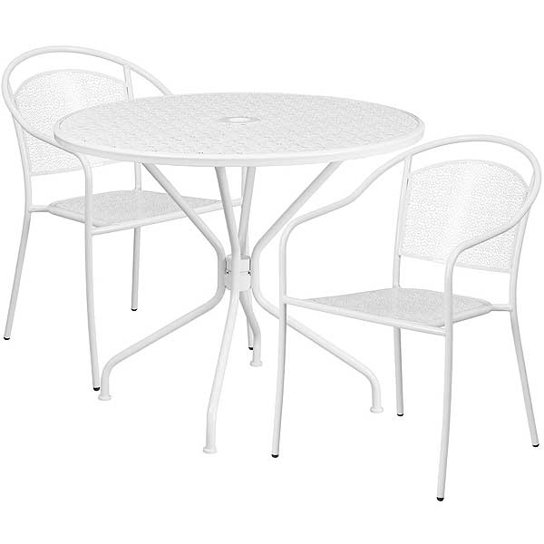 Flash Furniture Commercial Round Outdoor Table Sets