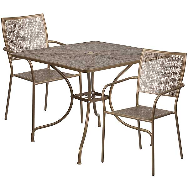 Flash Furniture Commercial Square Outdoor Table Sets