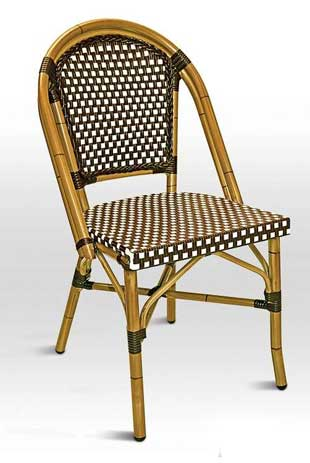 Florida Seating Chair RT-01 - Chocolate Weave / Bamboo Finish