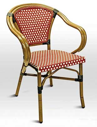 Florida Seating Chair RT-02 - Bordeaux Weave / Bamboo Finish