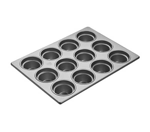 "Focus Crown Muffin Pans holds (12) 3-1/2"" Diameter large muffins - 903555"