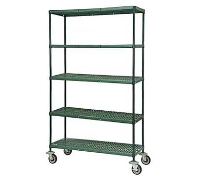 Focus Louvered - Slotted Shelf Carts