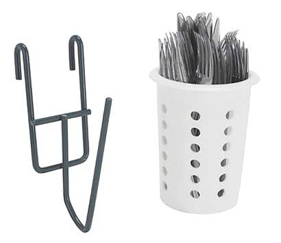 Focus Foodservice - EZ-Wall Cylinder Utensil Holder green epoxy finish (package of 8) - FWMCUHGN