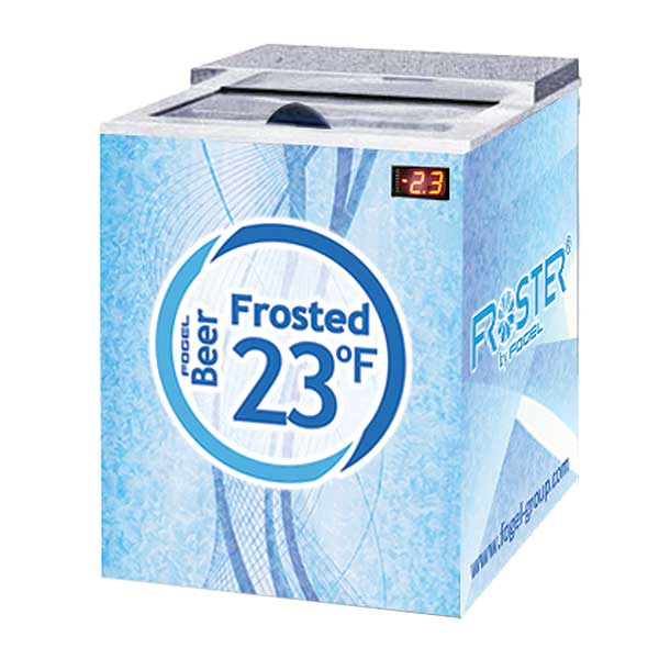 Fogel Horizontal Beer Froster, 1 Section, 5 Cu. Ft. - FROSTER-B-25-US - FROSTER-B-25-HC