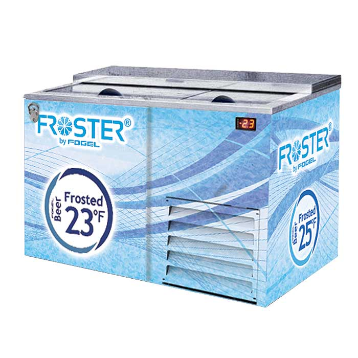 Fogel Horizontal Beer Froster, 2-Section, 15 Cu. Ft. - FROSTER-B-50-US - FROSTER-B-50-HC