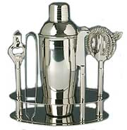 Side Bar Cocktail Shaker Set, Stainless Steel