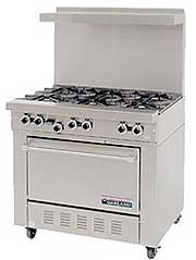 "Garland 36"" Wide Starfire Series Medium Duty Commercial Oven Range"