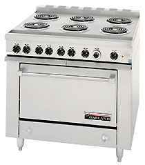 Garland 36ER33 Six Burner Electric Commercial Oven Range