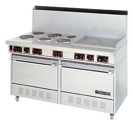 "Garland Electric Commercial Oven Range with 24"" Griddle"