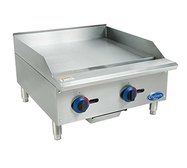 "Globe Chefmate 24"" Gas Griddle With Manual Controls 3/4"" Polished Griddle Plate - C24GG"