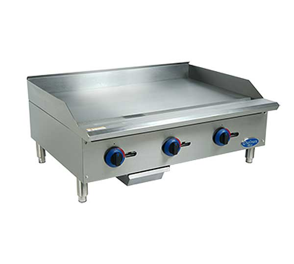 """Globe Chefmate 36"""" Gas Griddle With Manual Controls 3/4"""" Polished Griddle Plate - C36GG"""