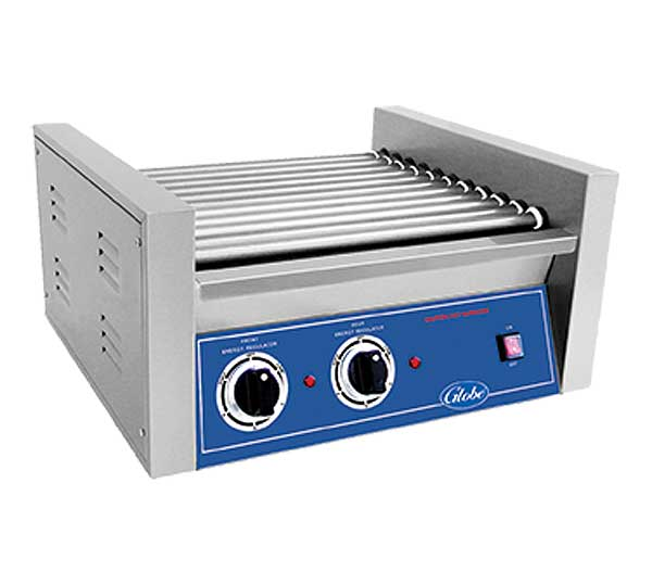 Globe Roller Grill Electric Bench Top (30) Hot Dog Capacity - RG30