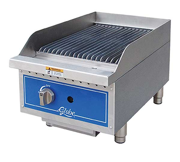 Globe Gas Charbroiler Radiant Countertop - GCB15G-SR