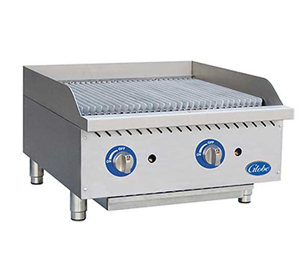 Globe Gas Charbroiler Radiant Countertop - GCB24G-SR
