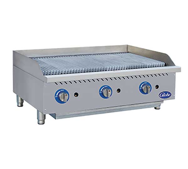 Globe Gas Charbroiler Radiant Countertop - GCB36G-SR